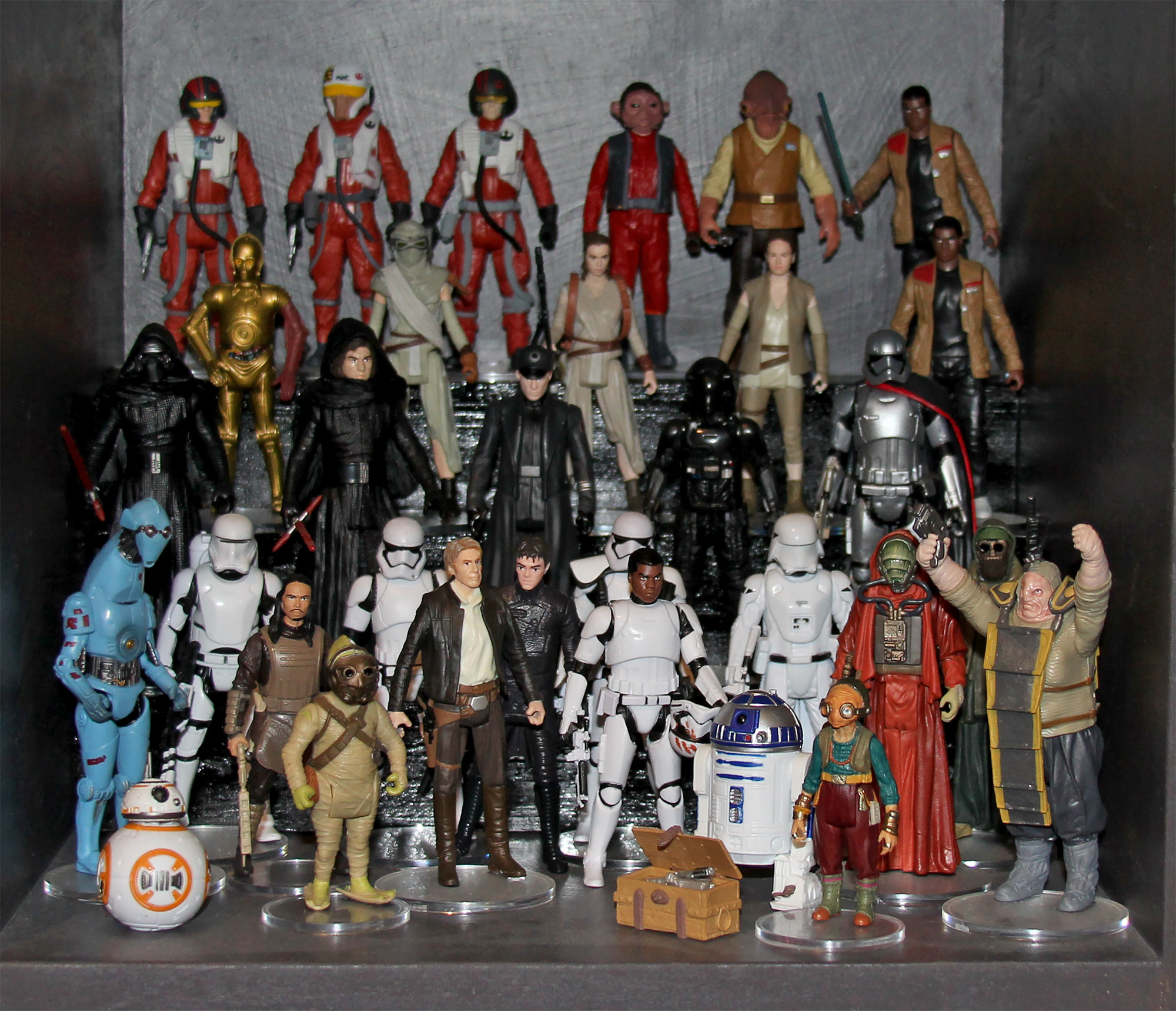 The Force Awakens action figure display