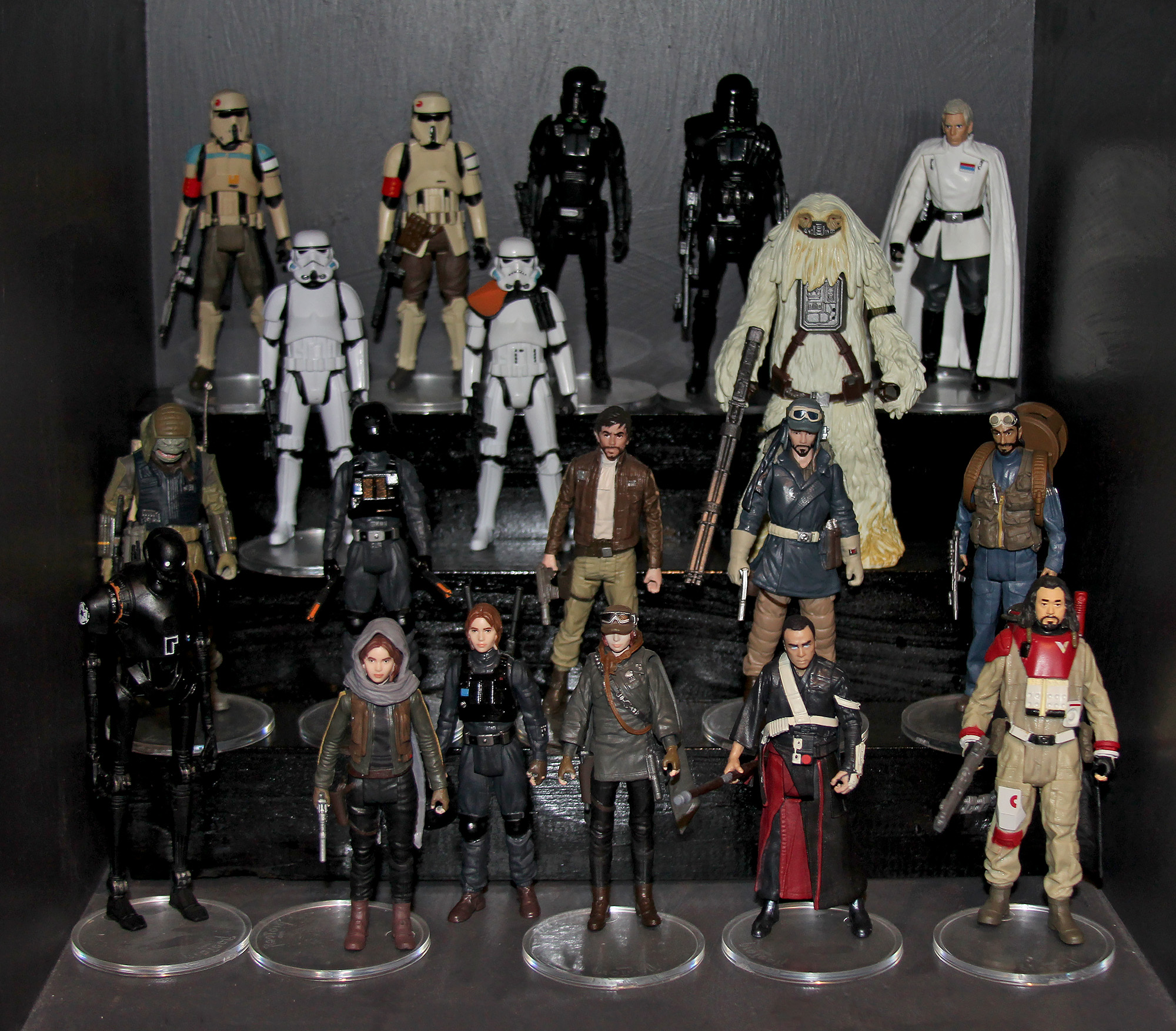 Rogue One action figure display