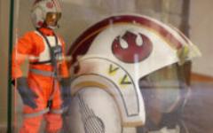 """12"""" Luke Skywalker (Sideshow); 1:1 Luke X-Wing pilot helmet (eFX)"""