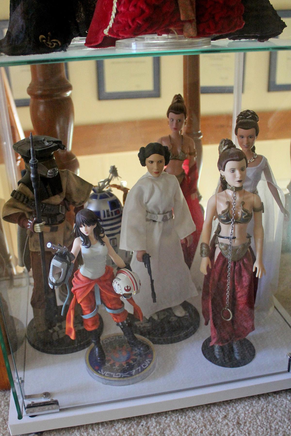Princess Leia dolls, Jaina Solo statue (Kotobukiya)