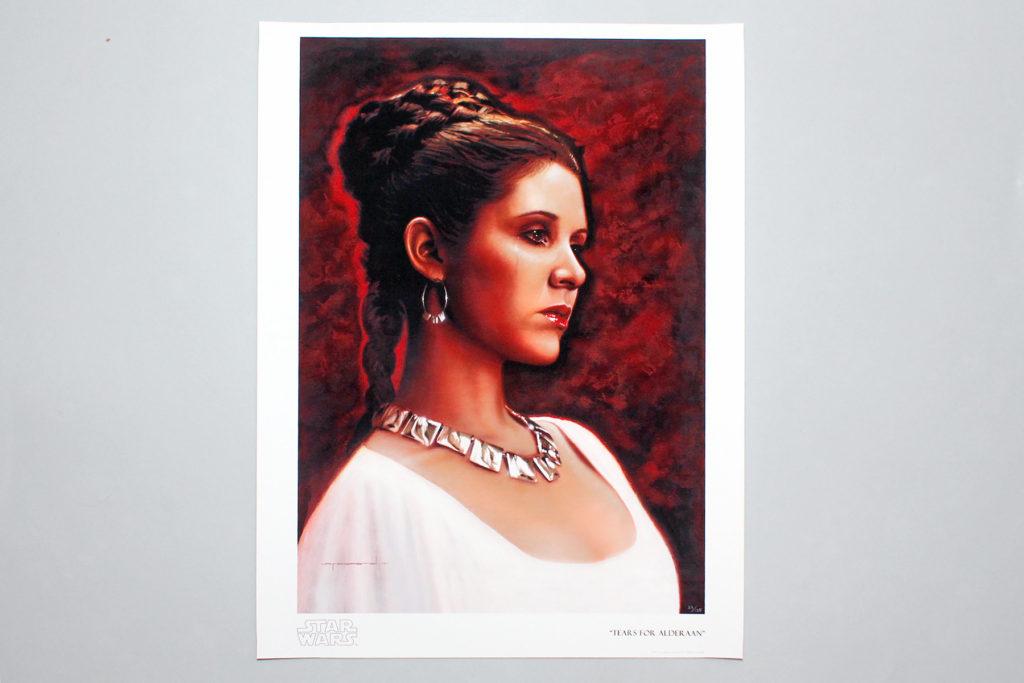 Princess Leia 'Tears For Alderaan' art print by Jerry Vanderstelt