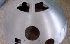 R2-D2 aluminium dome, 2 layers