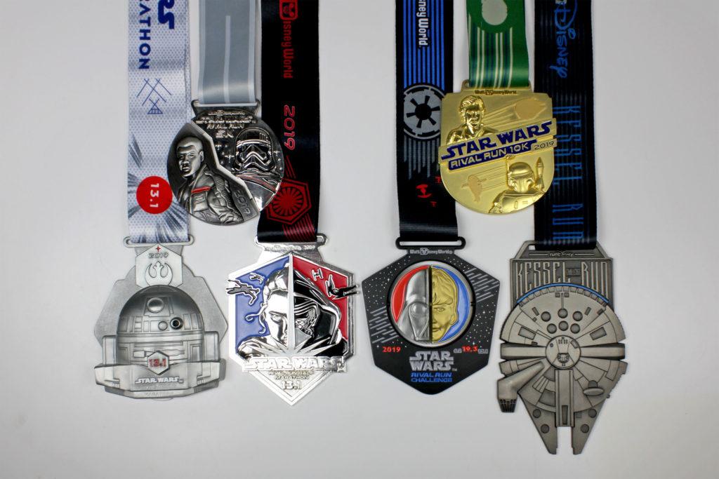 Run Disney Star Wars Medals 2019