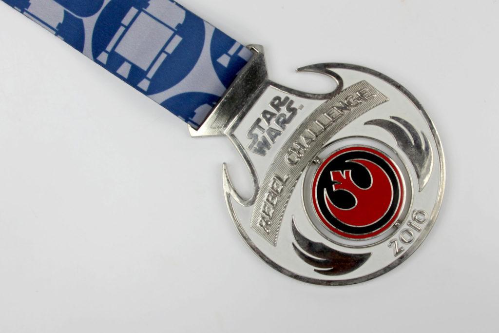 Run Disney Star Wars Light Side Rebel Challenge Medal 2016