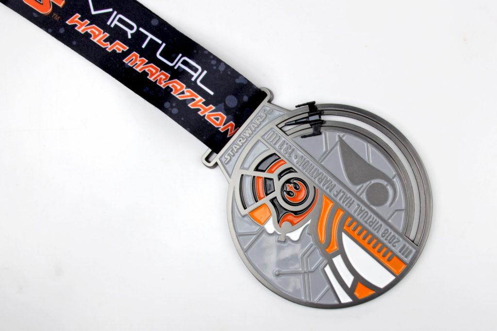 Run Disney Star Wars Virtual Half Marathon Medal 2018