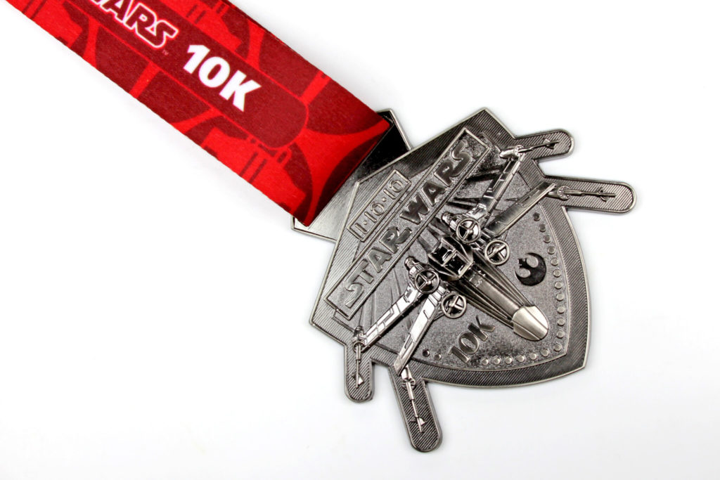Run Disney Star Wars Light Side 10K Medal 2016