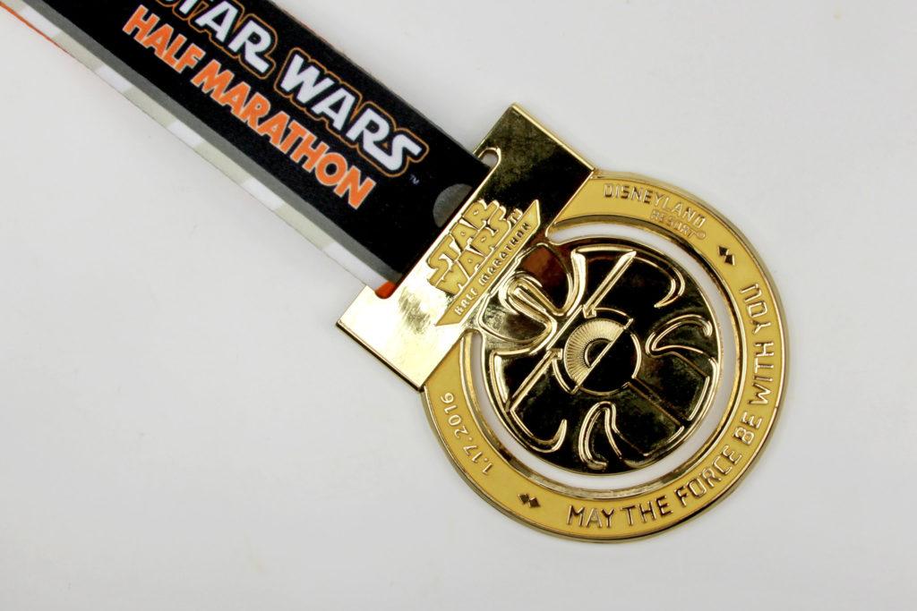 Run Disney Star Wars Light Side Half Marathon Medal 2016