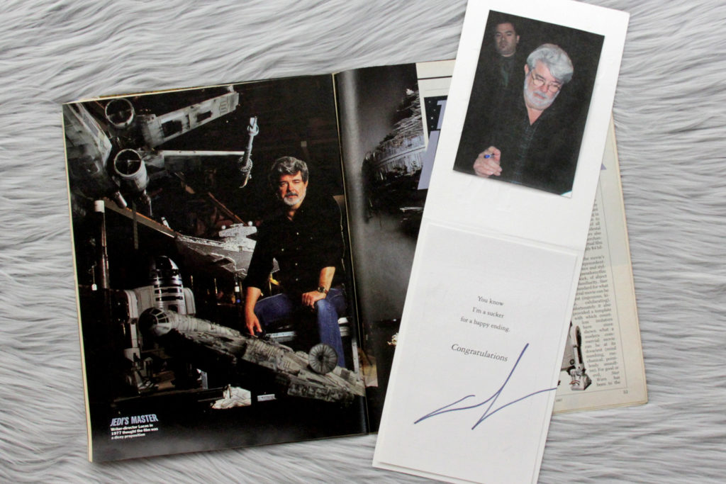 George Lucas Autograph and Time Magazine