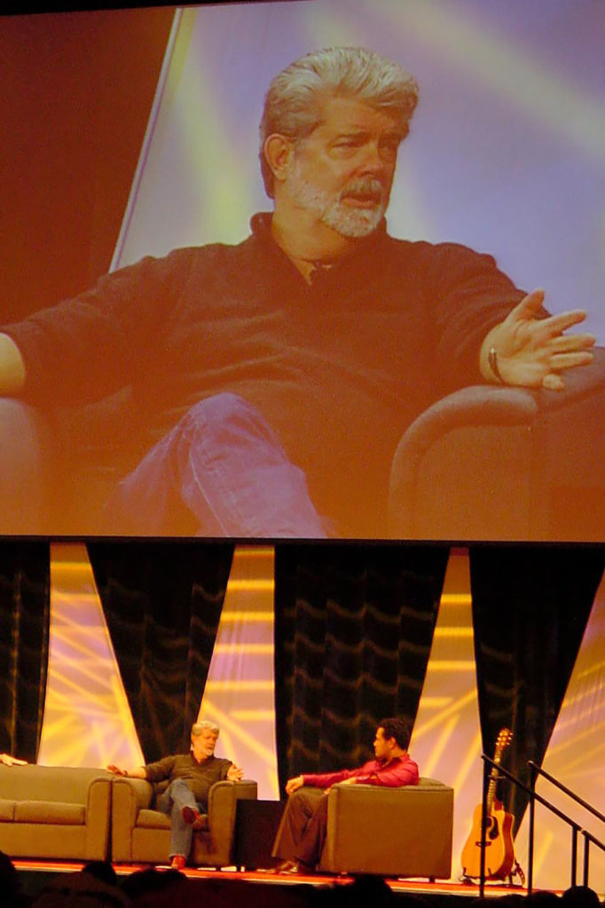 George Lucas at Star Wars Celebration III in 2005