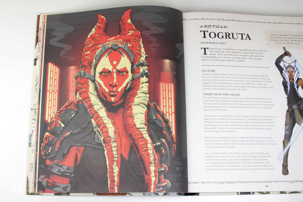 Togruta Pages in Alien Archive Book