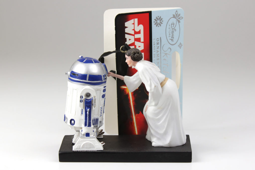 Disney Store Leia and R2-D2 Ornament Sketchbook Ornament Collection