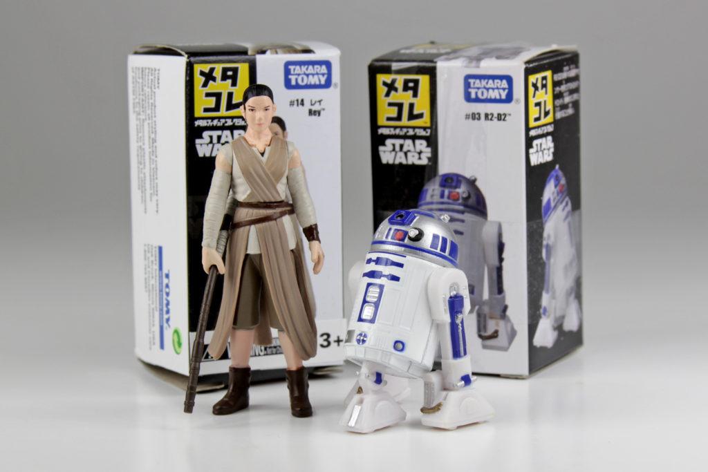 Takara Tomy Rey and R2-D2 die-cast figures