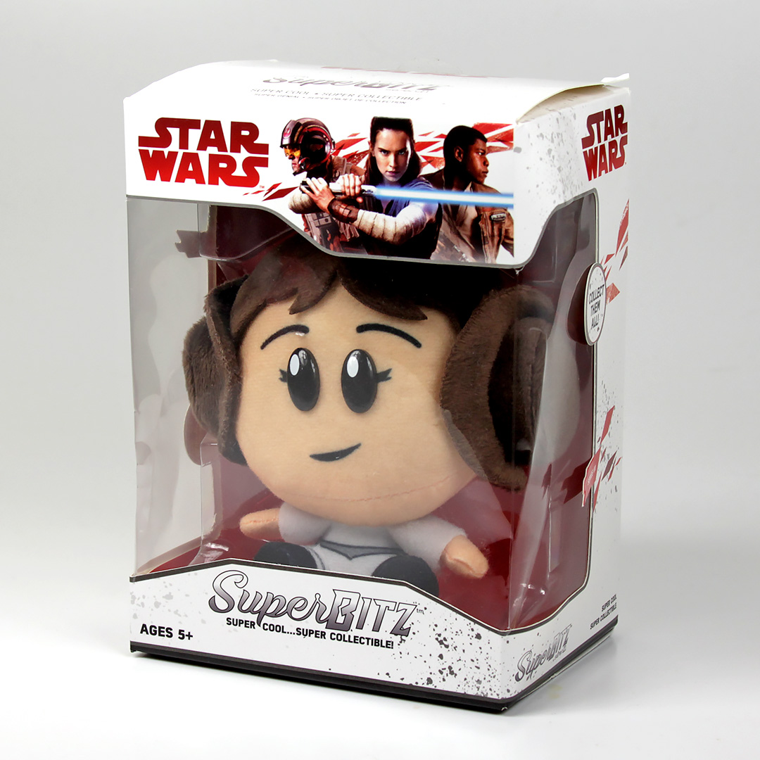 SuperBitz Princess Leia Plush Figure, Boxed