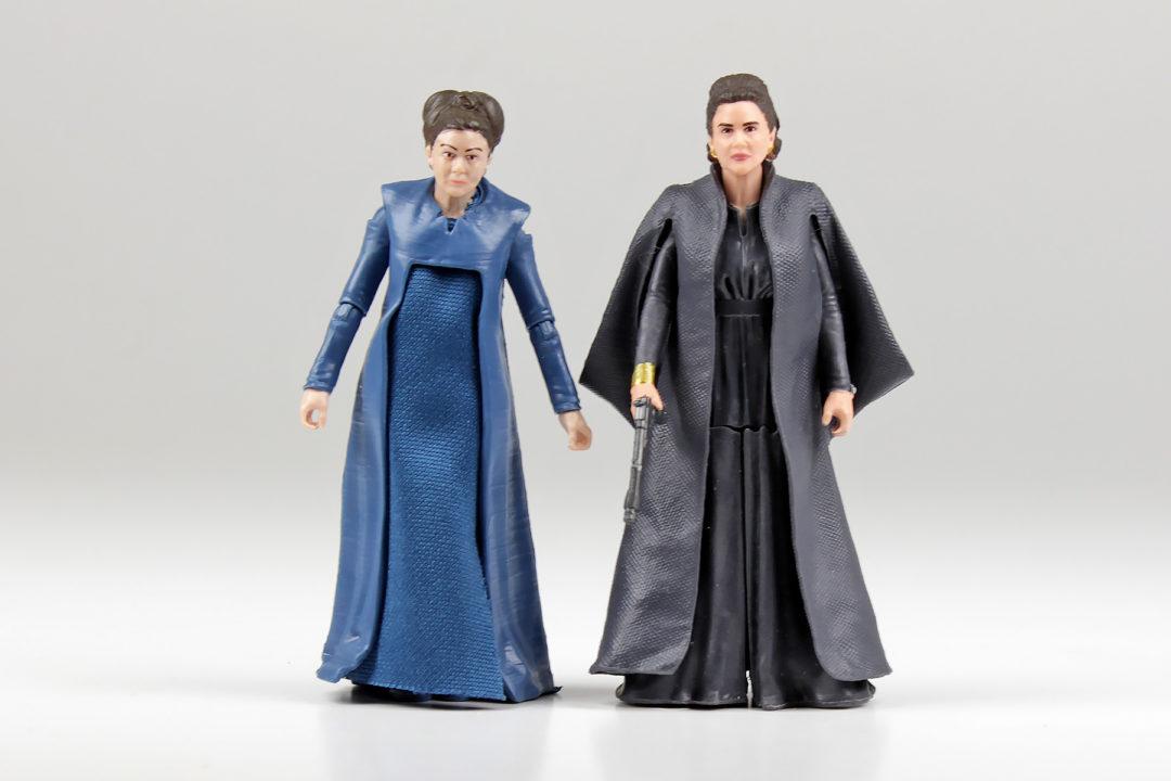 "The Black Series Leia and Force Link Leia 3.75"" figures"