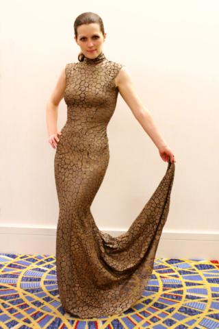 Dame Vaako Gold Dress (Screen-Used)