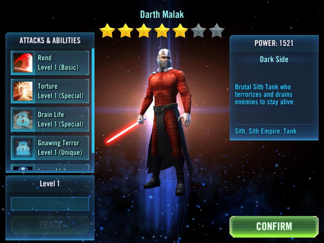Star Wars Galaxy Of Heroes - Darth Malak