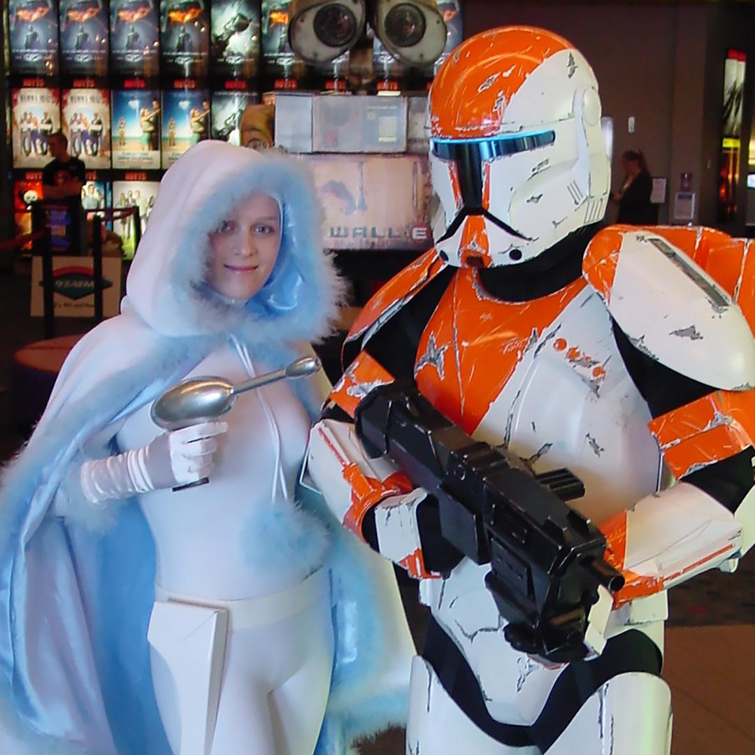 Fall For Costume - Snowbunny Padme and Republic Commando