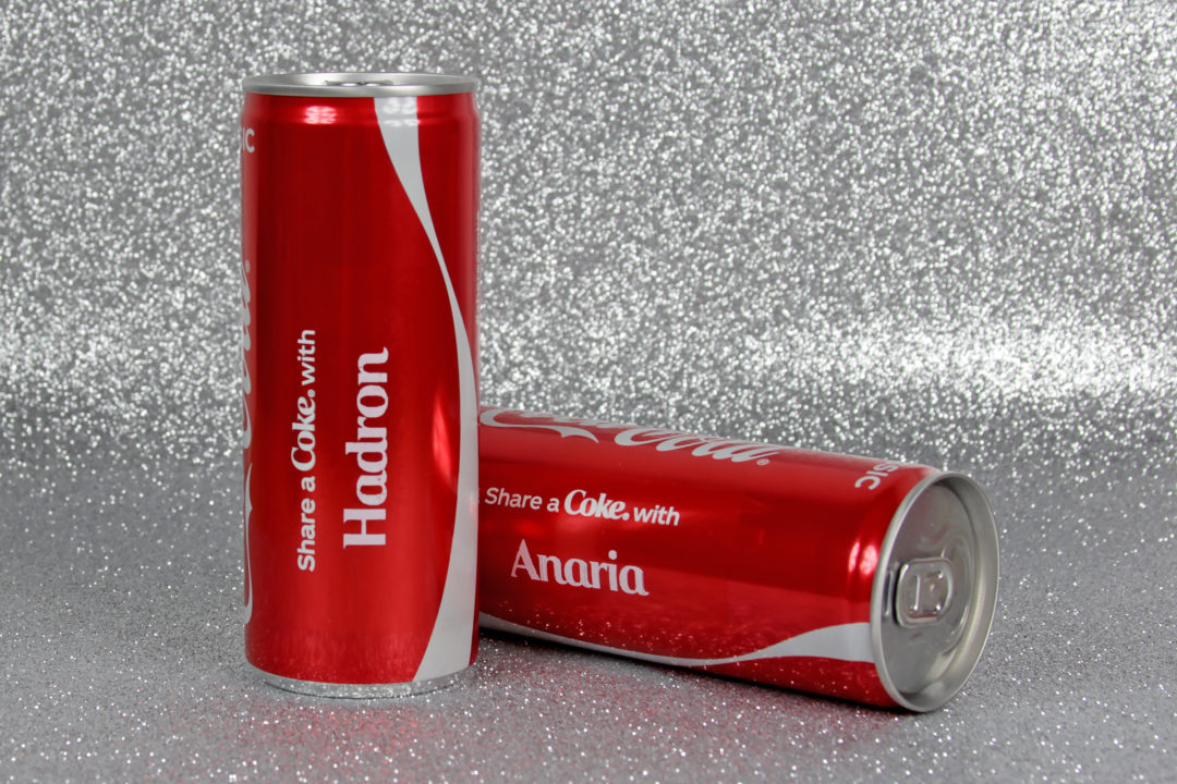 Personalised Coca Cola Cans