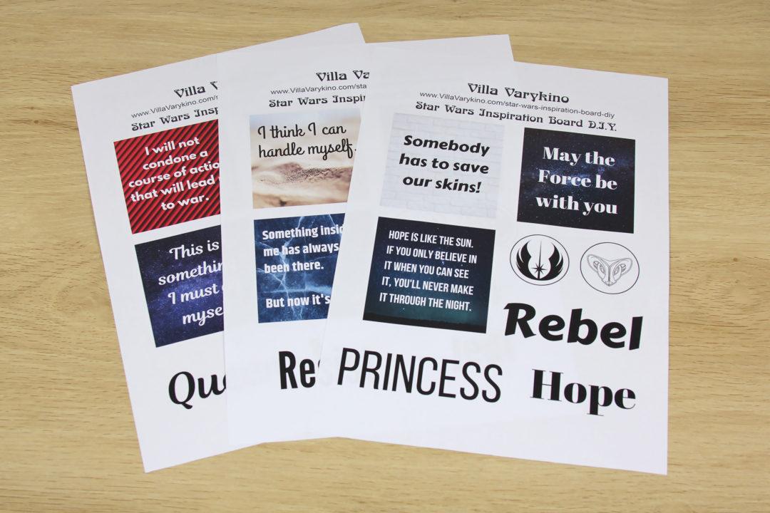 Star Wars Inspiration Board DIY