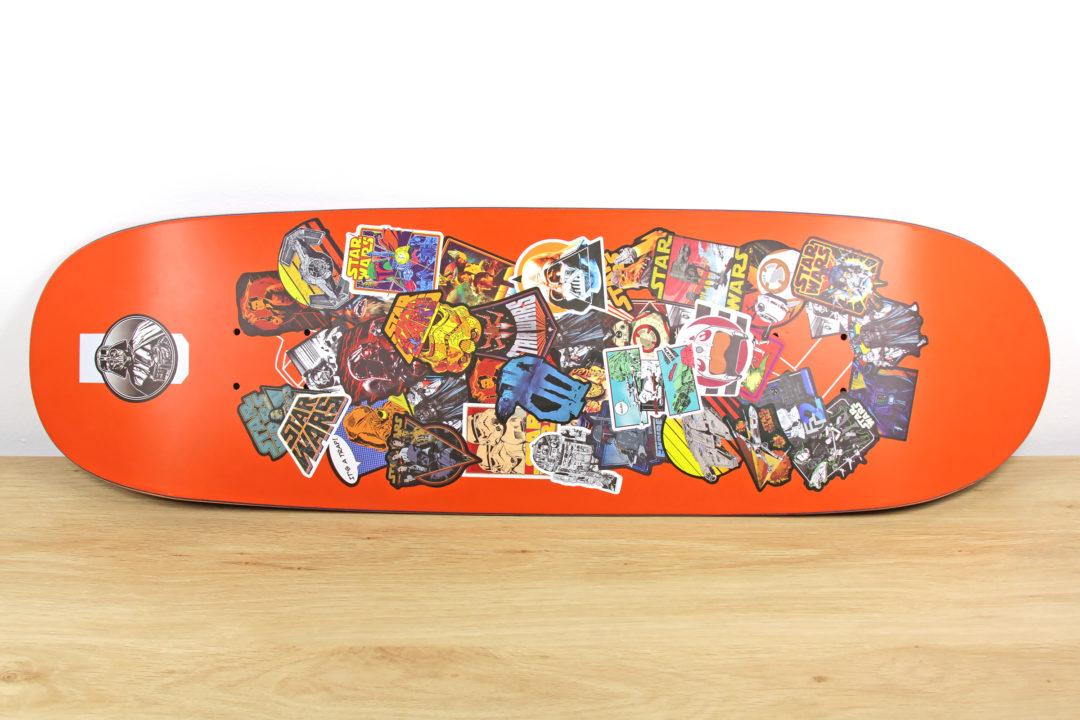 Star Wars Stickers on Skateboard Deck