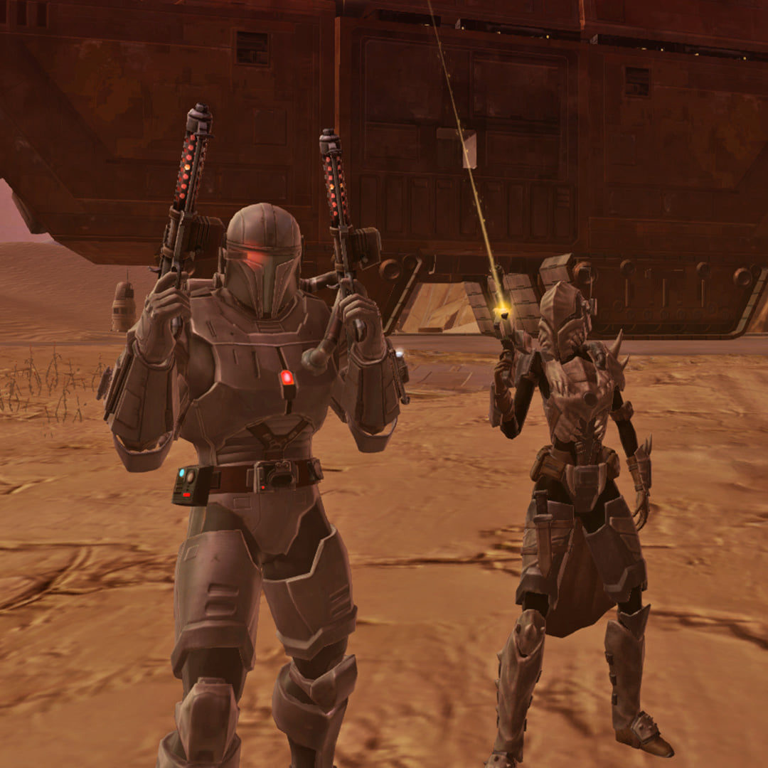 Toombs and Kamiro on Tatooine (SWTOR, Star Wars: The Old Republic)