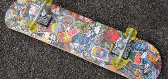 DIY Star Wars Sticker Montage Skateboard