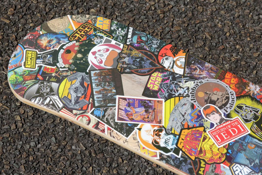 Custom Star Wars sticker montage skateboard