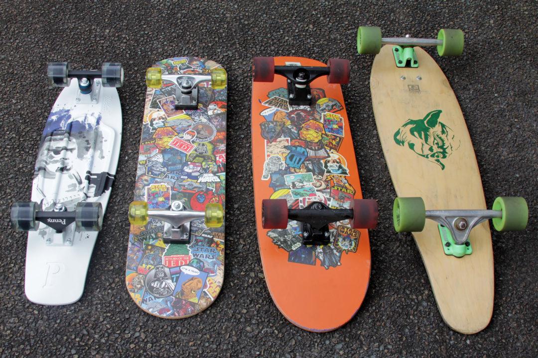 Star Wars Skateboards x4