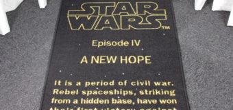 Star Wars Opening Crawl Rug